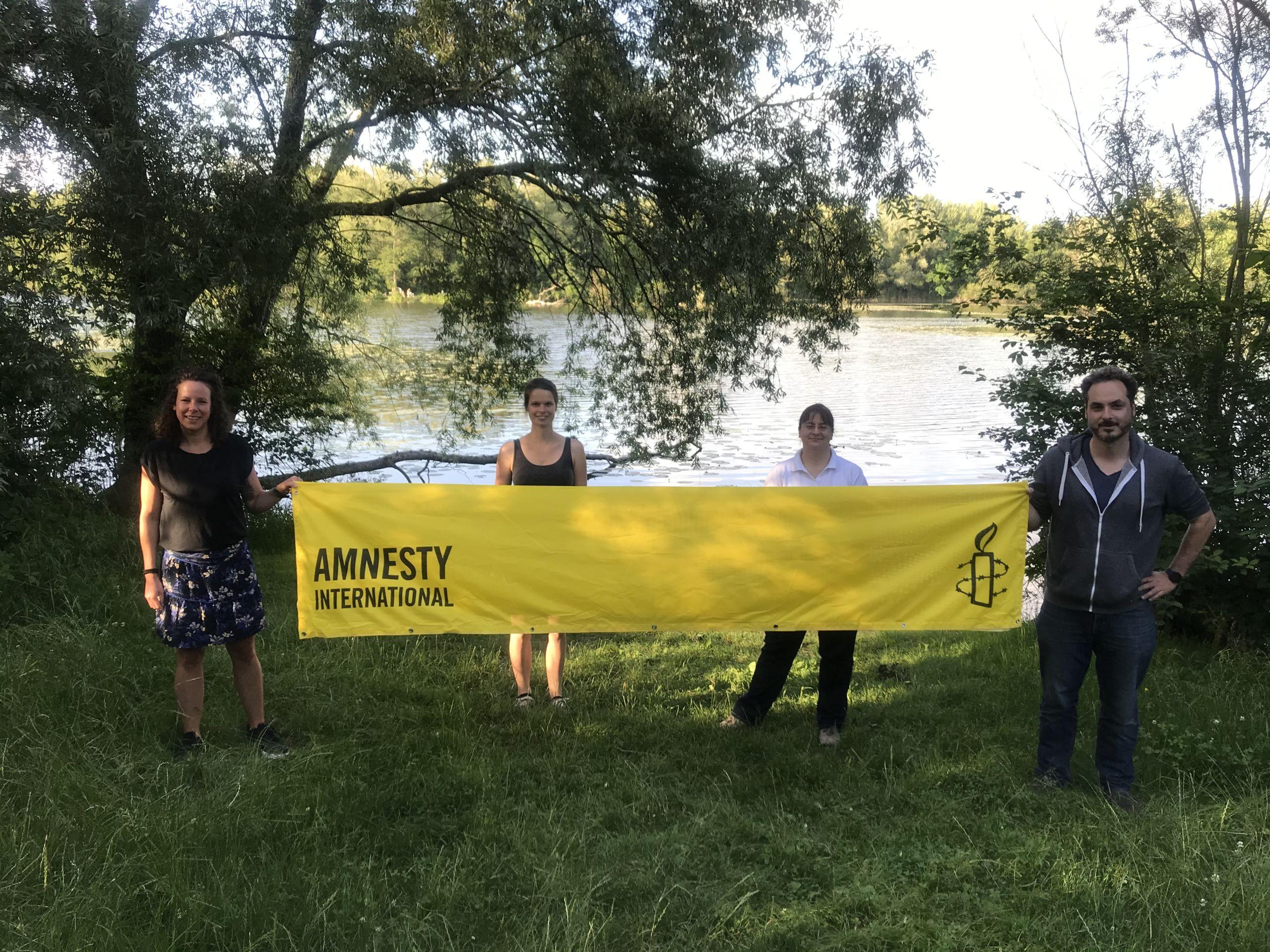 Gruppenfoto unserer Amnesty International Gruppe